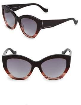 Balenciaga Colorblock 56MM Round Sunglasses