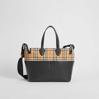 Burberry Childrens Vintage Check and Leather Baby Changing Tote