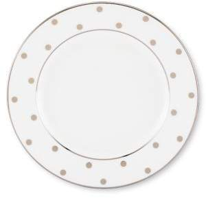 Kate Spade Larabee Road Platinum-Accented Bone China Butter Plate