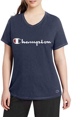Champion Short Sleeve V Neck T-Shirt - Plus