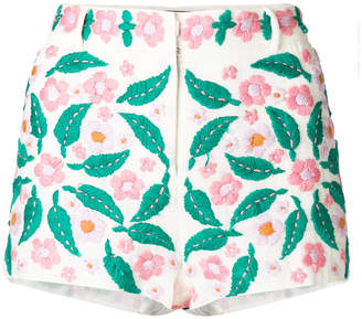 Antik Batik floral-embroidered shorts