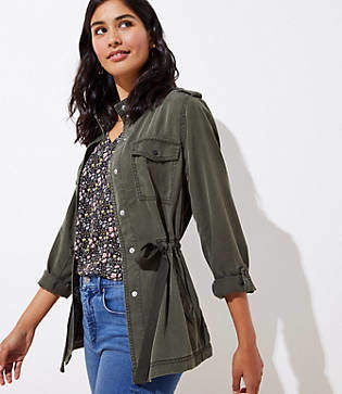 LOFT Tall Drawstring Utility Jacket