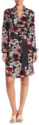 Trina Turk Jasxon Belted Silk Blend Dress
