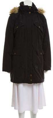 DKNY Hooded Short Coat