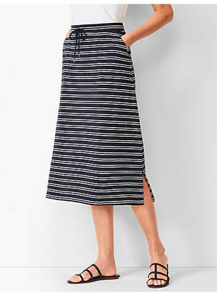 Talbots Stripe Midi Skirt