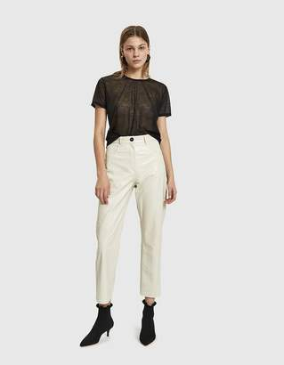 Nanushka Ivy Croc-Embossed Vegan Leather Pant