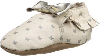Robeez Maggie Moccasin Soft Sole Crib Shoe (Infant)