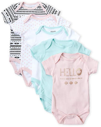Baby Essentials Chick Pea (Newborn Girls) 5-Pack Hello Bodysuits