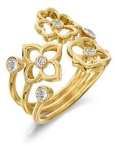 G-Shock Gumuchian 18K Yellow Gold Mini G Boutique Floral Diamond Ring