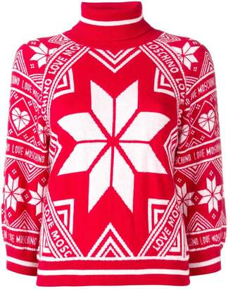 Love Moschino intarsia knit jumper