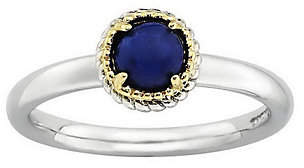 Simply Stacks Sterling Two-Tone Cabochon Ring