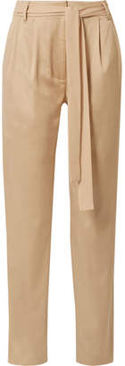 Jason Wu GREY - Belted Stretch Cotton-blend Twill Pants - Beige