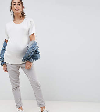 New Look Maternity over the bump pants in gray