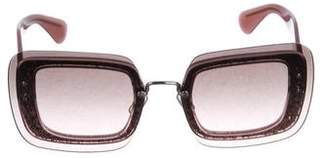 56d1ff8d10d8 Pre-Owned at TheRealReal · Miu Miu Gradient Oversize Glitter Sunglasses