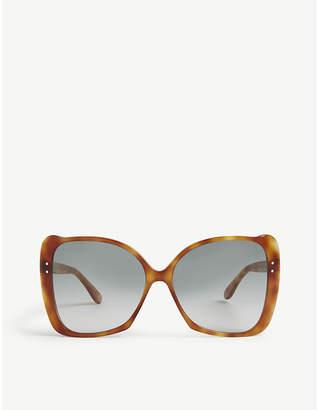 79ec88cbbf2 Gucci GG0471 butterfly-frame Havana sunglasses