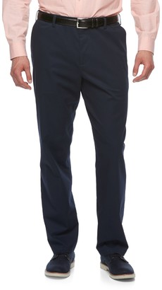 Croft & Barrow Big & Tall Relaxed-Fit Easy-Care Stretch Flat-Front Khaki Pants