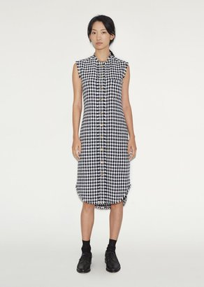 Thom Browne Frayed Sleeveless Shirtdress $1,590 thestylecure.com
