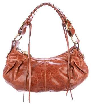 Francesco Biasia Distressed Leather Hobo