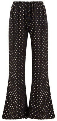 Figue Simone Fil Coupe Crepe Trousers - Womens - Black Gold