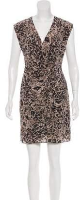 Rachel Zoe Printed Silk Mini Dress