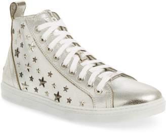 Jimmy Choo Colta Star Embossed High Top Sneaker