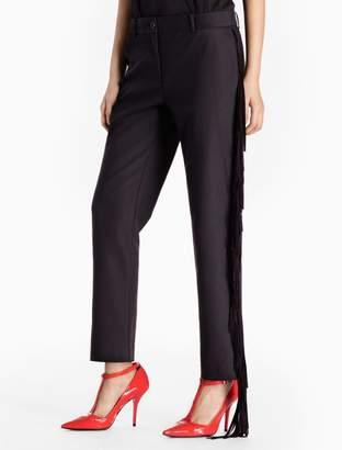 Calvin Klein cotton stretch fringe suit pants