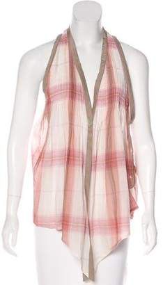 Elizabeth and James Plaid Swing Vest