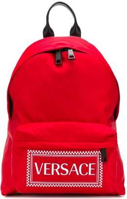 Versace logo backpack