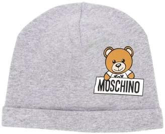 Moschino Kids Teddy logo print hat