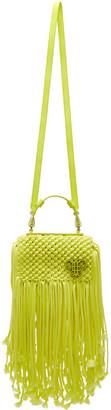 Emilio Pucci Yellow Fringed Logo Bag $2,285 thestylecure.com