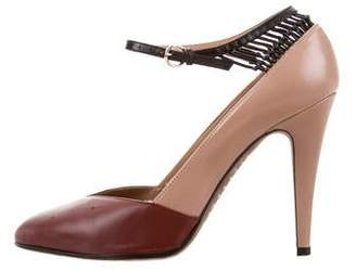 Valentino Leather Ankle Strap Pumps