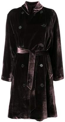 Kiltie double breasted velvet coat