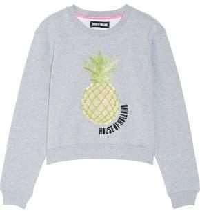 House of Holland Embellished Cotton-Blend Jersey Sweatshirt