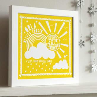 Pepper Print Shop Framed Christening Sunshine Print