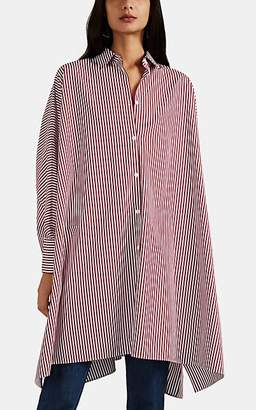 Maison Margiela Women's Striped Cotton Poplin Oversized Shirtdress - Wine