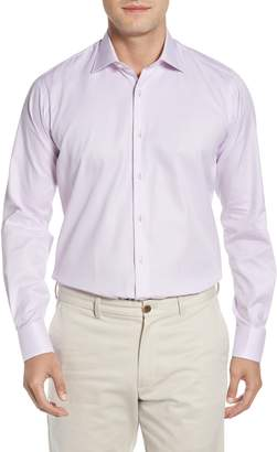 Ike Behar Regular Fit Solid Dress Shirt