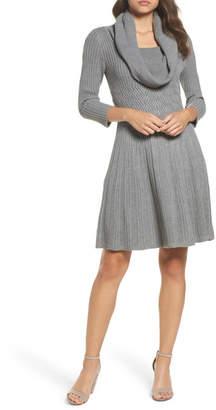 Eliza J Cowl Neck Sweater Dress