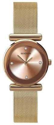 Sekonda Ladies Rose Gold Mesh Sunray Watch 2301.28