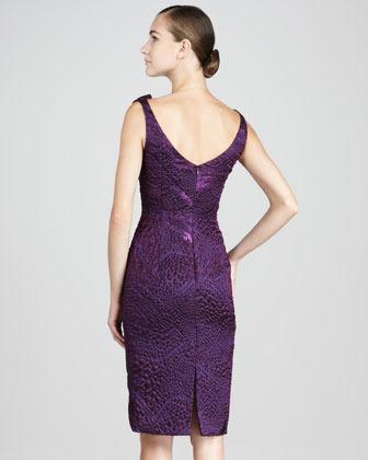 Theia Brocade Cocktail Dress
