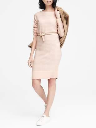 Banana Republic Wool-Cashmere Blend Ribbed Sweater Dress
