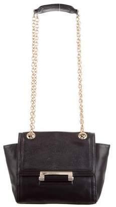 Diane von Furstenberg Leather Mini Flap Shoulder Bag
