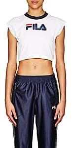 Fila Women's Pia Logo Stretch-Cotton Crop T-Shirt - White