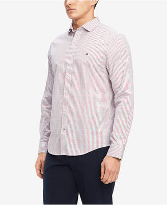 Tommy Hilfiger Men's Classic Fit Dash & Dot Dobby Shirt