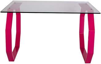 One Kings Lane Vintage Custom Pink Metal & Glass Desk - Madcap Cottage