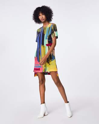 Nicole Miller Abstract Paint Shirt Dress