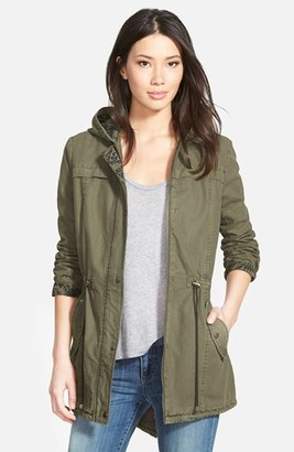 Levi's ® Print Trim Cotton Twill Fishtail Parka $150 thestylecure.com