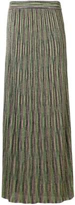 M Missoni jacquard knit long skirt