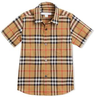 Burberry Short-sleeve Vintage Check Cotton Shirt