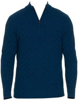 Robert Graham Rowley Wool Quarter-Zip Sweater