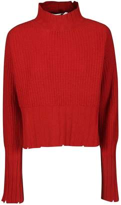 MSGM Distressed Rib Knit Sweater
